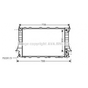 AVA COOLING AIA2084 Радиатор AUDI 100/A6 26/8 AT 92-97 (Ava)