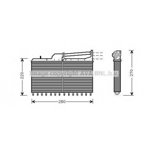 AVA COOLING BW6029 Радиатор отопителя HEATER BMW518-535 E34 87- (Ava)
