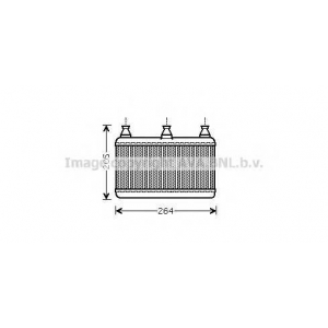 AVA BW 6341 Радиатор отопления  BMW E60/E61 [OE 16933922/64116933922]