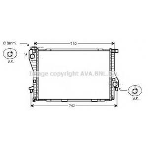 AVA COOLING BWA2233 Радиатор BMW5(E39)/7(E38)MT 98- (Ava)