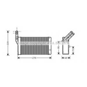 AVA CN 6055 Радиатор, отоление салона