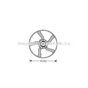 AVA cn 7532 Вентилятор радиатора системы охлаждения