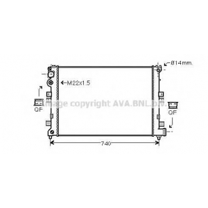 AVA COOLING CNA2089 Радиатор 806/EVASION/ULYSSE MT 94- (Ava)