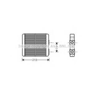 AVA DN 6226 Радиатор, отоление салона