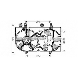 AVA DN7511 Вентилятор, охлаждение двигателя