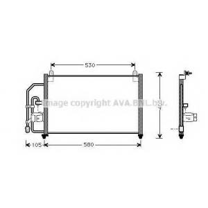 AVA DW 5012 Радиатор кондиционера [OE. 96303204 / 96274635]