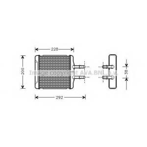 AVA DW 6027 Радиатор печки [OE. 96231949, 96190674]