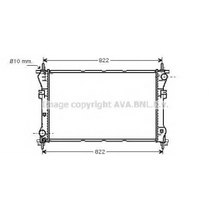 AVA fd2318 Радиатор двигателя