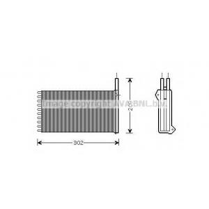 AVA FD 6154 Радиатор печки, -1/95 [OE. 91AG 18B539 AA]