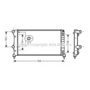AVA COOLING FT2250 Радиатор DOBLO 19TD MT +AC 01- (Ava)