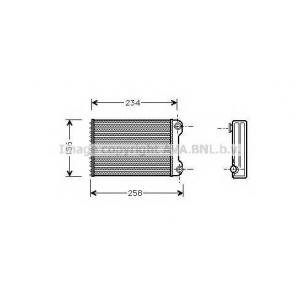 AVA FT 6242 FIAT DOBLO 5/01- Радиатор печки (?A) [OE. 46723227, 6723042]
