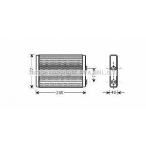 AVA FT 6325 Радиатор отопления PE EXPERT 07- [OE 9464420380/6448K8 ]