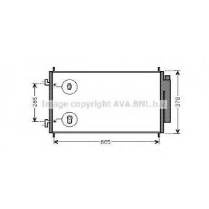 AVA HDA 5214 CR-V 10/06-ограничение производителя: Denso |Размеры: 677 - 360-16