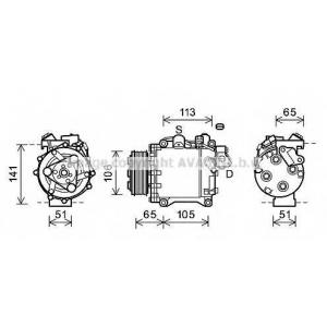 AVA HDK263 HD CR-V 2.4 i 10 Компрессор [OE 38810-RZY-A01]
