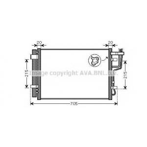 AVA HY5183 Радиатор кондиционера HY I 30 1,4  1,6  2,0 07-