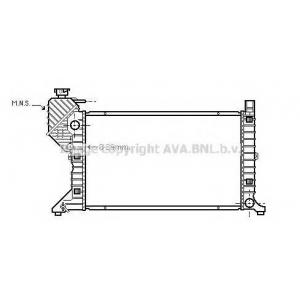 AVA MS 2300 Радиатор (+/-AC) [OE. 901.500.3500, 901.500.3600]