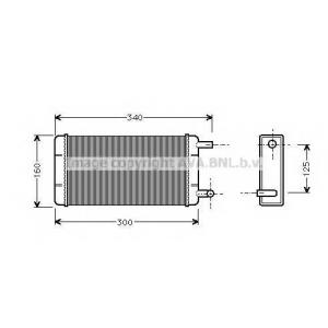 AVA ms6108 Радиатор отопителя