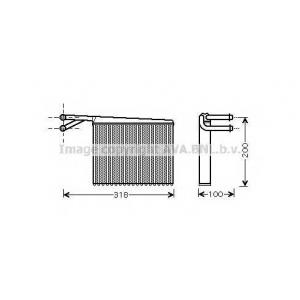 AVA ms 6372 Радиатор отопителя