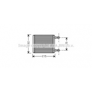 AVA ms6442 Радиатор печки