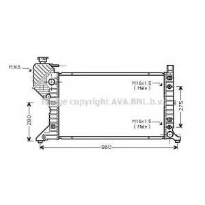 AVA MSA2343 Радиатор, охлаждение двигателя