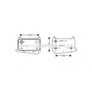 AVA MSA3376 MS-W203 98- радиатор ожлаждения 2.2CDi (±AUT±AC), 2.7CDi (±AUT±AC) [141*80*36]