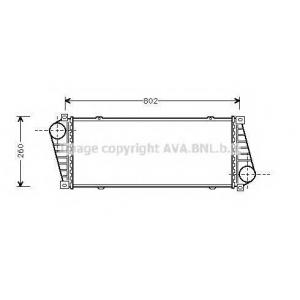 AVA MSA 4217 Радиатор интеркулера Sprinter/CDI