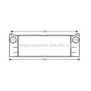 AVA COOLING MSA4371 Интеркулер MERCEDES VITO (пр-во AVA)