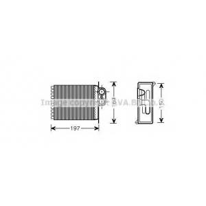 AVA MSA6400 Теплообменник, отопление салона