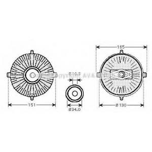 AVA ms c413 Вискомуфта вентилятора системы охлаждения
