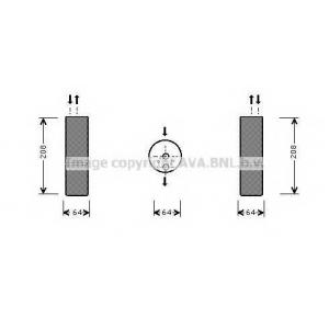 AVA COOLING MSD053 Осушитель кондиционера MB S-KL W220 98-  (пр-во AVA)