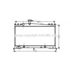 AVA COOLING MZ2161 Радиатор MAZDA 6 18/20 AT +-AC 02- (Ava)