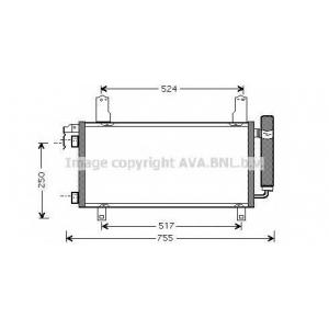 AVA MZ5157 Радиатор кондиционера