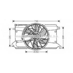 AVA MZ 7538 MZ 3 1.4 / 1.6 10/03- Вентилятор
