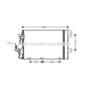 AVA OL5366 Радиатор кондиционера