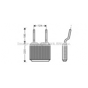AVA OL 6132 Радиатор, отоление салона