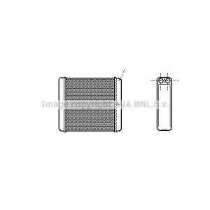 AVA OL 6206 OPEL CALIBRA 6/90- Радиатор печки (прав. руль) +AC [OE. 1843106 - 90399229]