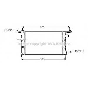 AVA COOLING OLA2183 Радиатор CORSA B/COMBO 1.2/1.4/1.6 (Ava)