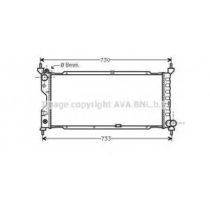 AVA COOLING OLA2185 Радиатор COMBO/CORSA B 1.5/1.7 D (Ava)