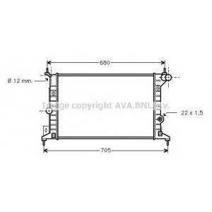 AVA COOLING OLA2242 Радиатор VECTRA B 16/18/20 MT -AC (Ava)