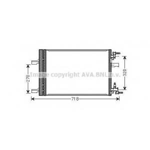 AVA OLA 5500 OL-ASTRA J 09- Радиатор кондиционера