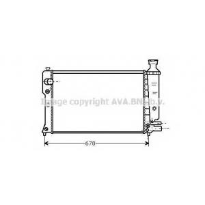 AVA PE 2097 PEUGEOT 405 9/87-4/95 Радиатор 1.6, 1.9, 1.9D ?A ?AC (t. 22mm) -6/92 [OE. 1300.
