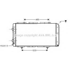 AVA PE 2150 Радиатор 2.0, 1.9D (-5/98), 2.5D (-10/95), 2.5TD, 2.8D/TD [OE. 1307395080]