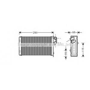 AVA PE 6100 Радиатор, отоление салона