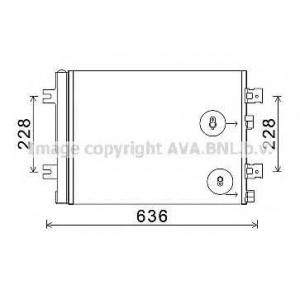 AVA RT 5467 RT- DUSTER 10- Радиатор кондиционера
