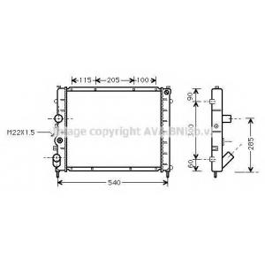 AVA COOLING RTA2215 Радиатор KANGOO 15D/19D MT -AC 97- (Ava)