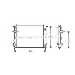 AVA COOLING RTA2270 Радиатор CLIO2/LOGAN/KANGOO 15D 01 (Ava)