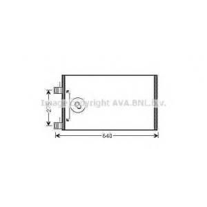 AVA RTA 5444 Cond. Kangoo iI 1.6i  10 Радиатор кондиционера