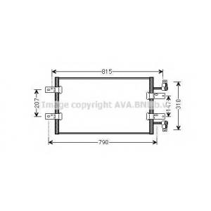 AVA COOLING RTA5451 Радиатор кондиционера NISSAN;OPEL;RENAULT (пр-во AVA)