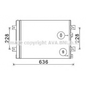 AVA RTA5467 RT- DUSTER 10- Радиатор кондиционера