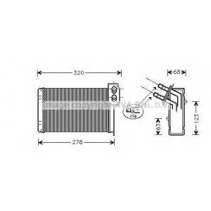 AVA RTA 6099 Радиатор, отоление салона